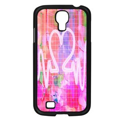 Watercolour Heartbeat Monitor Samsung Galaxy S4 I9500/ I9505 Case (black)