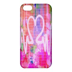 Watercolour Heartbeat Monitor Apple iPhone 5C Hardshell Case