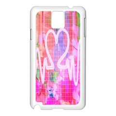 Watercolour Heartbeat Monitor Samsung Galaxy Note 3 N9005 Case (White)