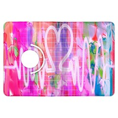 Watercolour Heartbeat Monitor Kindle Fire Hdx Flip 360 Case