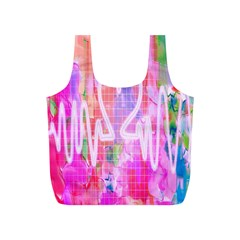 Watercolour Heartbeat Monitor Full Print Recycle Bags (S)