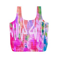 Watercolour Heartbeat Monitor Full Print Recycle Bags (M)