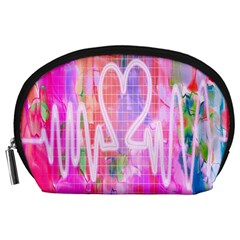 Watercolour Heartbeat Monitor Accessory Pouches (Large)