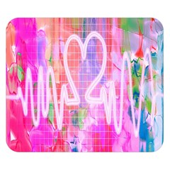 Watercolour Heartbeat Monitor Double Sided Flano Blanket (Small)
