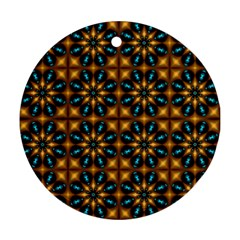 Abstract Daisies Ornament (round)