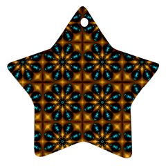 Abstract Daisies Ornament (star)