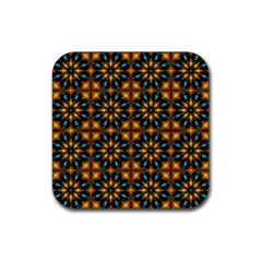 Abstract Daisies Rubber Coaster (square)
