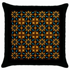 Abstract Daisies Throw Pillow Case (black)