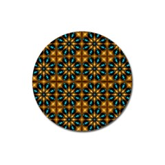 Abstract Daisies Magnet 3  (round)
