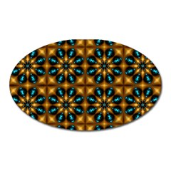 Abstract Daisies Oval Magnet