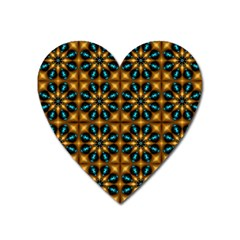 Abstract Daisies Heart Magnet