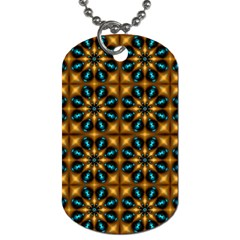 Abstract Daisies Dog Tag (Two Sides)