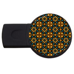 Abstract Daisies Usb Flash Drive Round (2 Gb)
