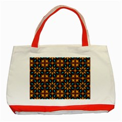 Abstract Daisies Classic Tote Bag (red)