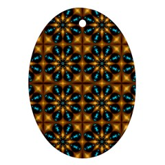 Abstract Daisies Oval Ornament (Two Sides)