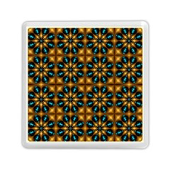 Abstract Daisies Memory Card Reader (square)