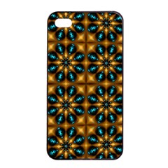 Abstract Daisies Apple iPhone 4/4s Seamless Case (Black)