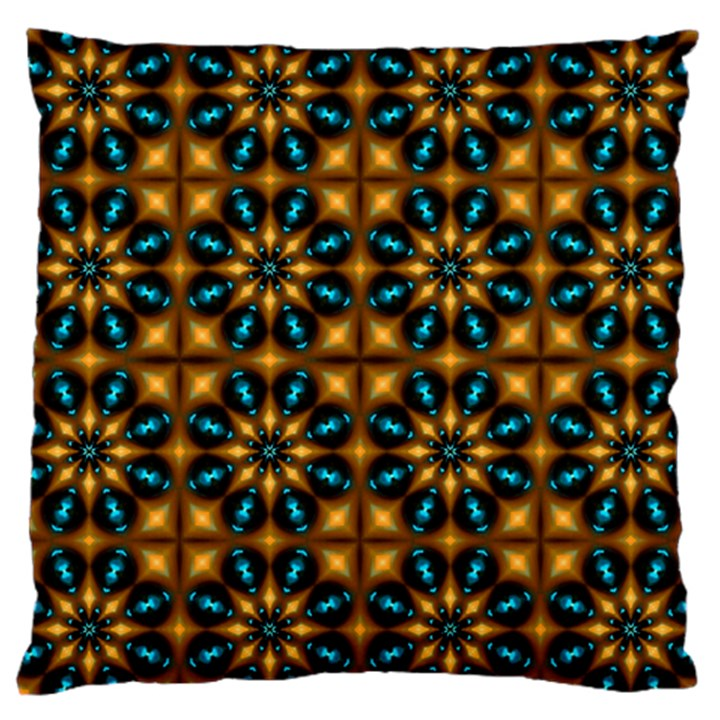 Abstract Daisies Large Cushion Case (Two Sides)