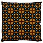 Abstract Daisies Large Cushion Case (Two Sides) Back
