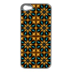 Abstract Daisies Apple iPhone 5 Case (Silver)