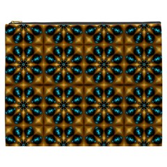 Abstract Daisies Cosmetic Bag (XXXL)