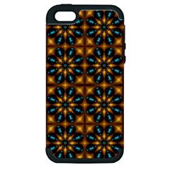 Abstract Daisies Apple iPhone 5 Hardshell Case (PC+Silicone)