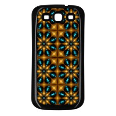 Abstract Daisies Samsung Galaxy S3 Back Case (black)