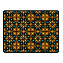 Abstract Daisies Double Sided Fleece Blanket (small)