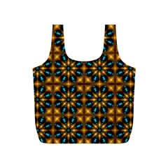 Abstract Daisies Full Print Recycle Bags (s)