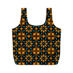 Abstract Daisies Full Print Recycle Bags (m)