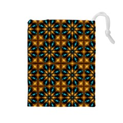 Abstract Daisies Drawstring Pouches (Large)