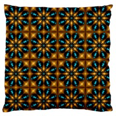 Abstract Daisies Large Flano Cushion Case (Two Sides)