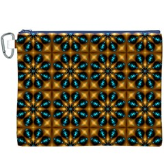 Abstract Daisies Canvas Cosmetic Bag (xxxl)