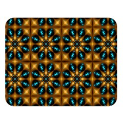 Abstract Daisies Double Sided Flano Blanket (Large)