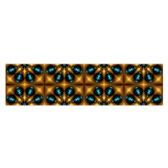 Abstract Daisies Satin Scarf (oblong)