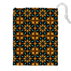 Abstract Daisies Drawstring Pouches (XXL)