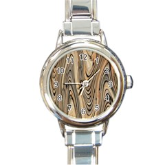 Abstract Background Design Round Italian Charm Watch