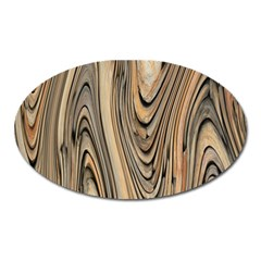 Abstract Background Design Oval Magnet