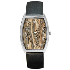Abstract Background Design Barrel Style Metal Watch