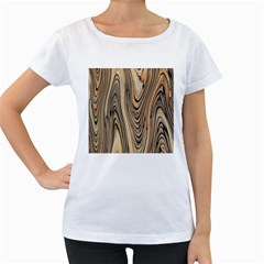 Abstract Background Design Women s Loose-Fit T-Shirt (White)