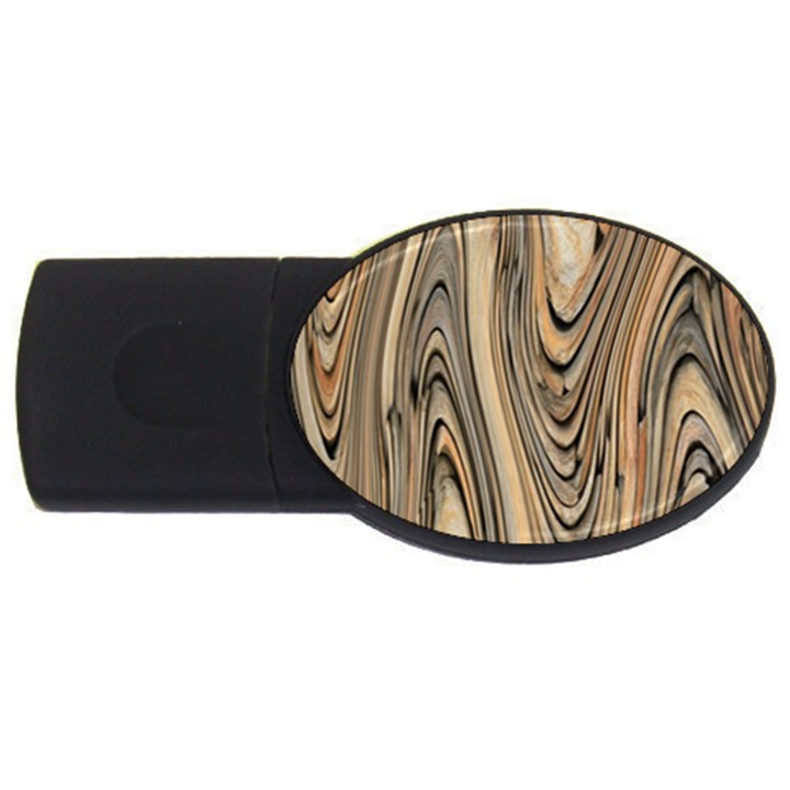 Abstract Background Design USB Flash Drive Oval (4 GB)