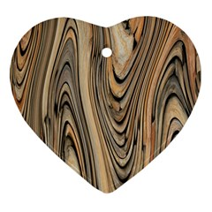 Abstract Background Design Heart Ornament (Two Sides)