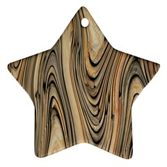 Abstract Background Design Star Ornament (two Sides)