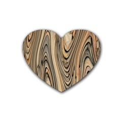 Abstract Background Design Rubber Coaster (heart)