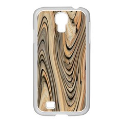 Abstract Background Design Samsung GALAXY S4 I9500/ I9505 Case (White)