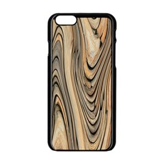 Abstract Background Design Apple Iphone 6/6s Black Enamel Case