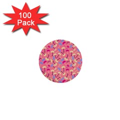 Umbrella Seamless Pattern Pink 1  Mini Buttons (100 pack)
