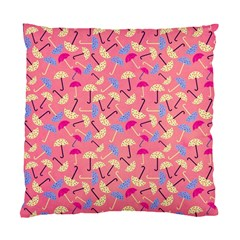 Umbrella Seamless Pattern Pink Standard Cushion Case (one Side)