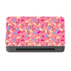 Umbrella Seamless Pattern Pink Memory Card Reader with CF
