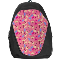 Umbrella Seamless Pattern Pink Backpack Bag